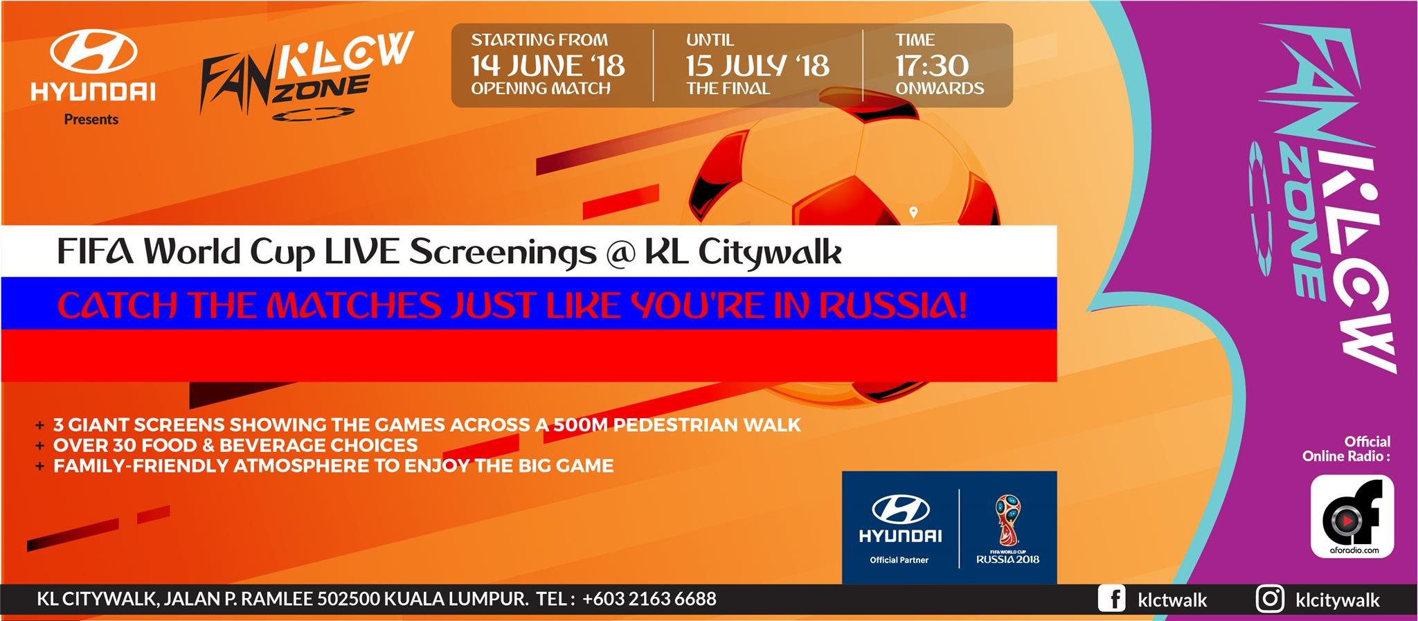 WATCH THE 2018 FIFA WORLD CUP RUSSIA LIVE AT KLCW FANZONE! 03c8738c67